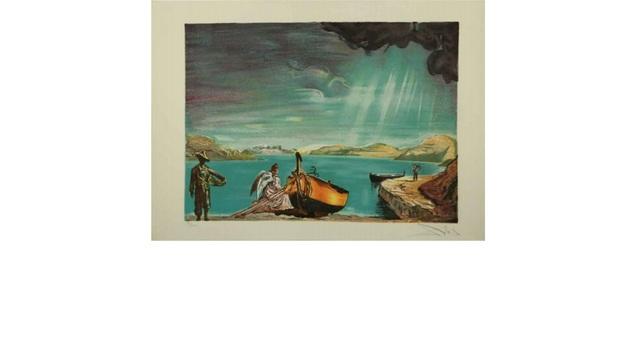 Salvador Dalí, 'The Angel of Port Lligate', Unknown, Print, Lithograph, Leviton Fine Art