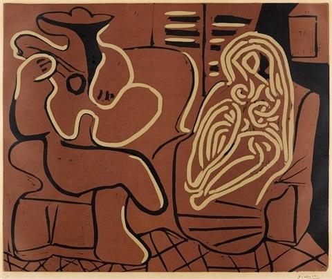 , 'Femme dans un Fauteuil et Guitariste,' 1959, Tanya Baxter Contemporary