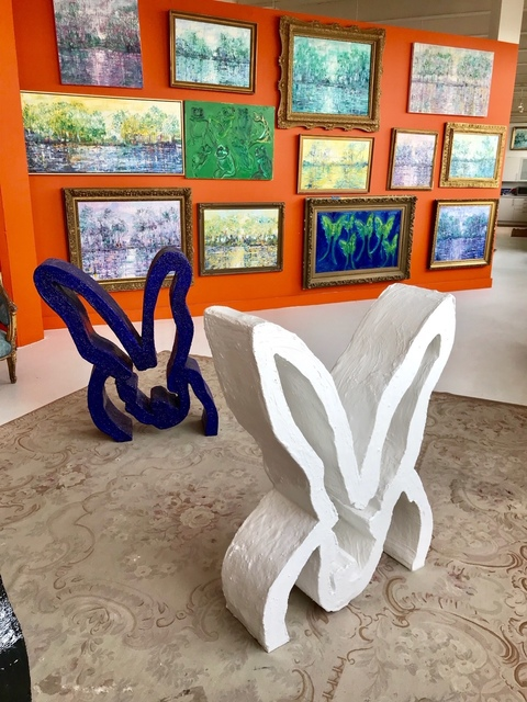 , 'Bunny Sculptures, blue and white,' 2018, DEAN PROJECT