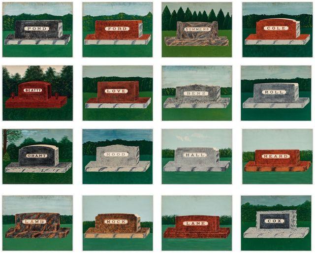 , 'Untitled: Series of salesman samples for memorials,' 1920, Ricco/Maresca Gallery