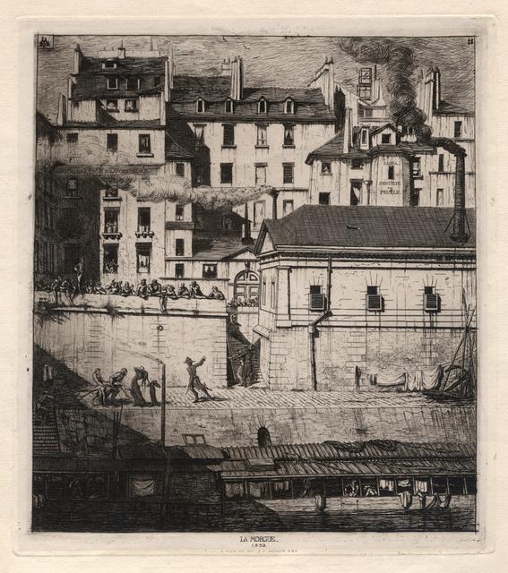 , 'La Morgue,' 1854, Conrad R. Graeber Fine Art