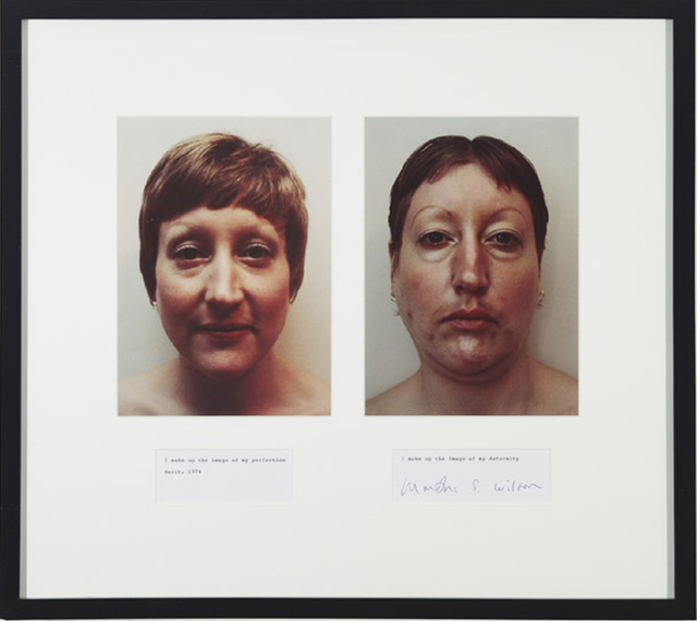 , 'I Make Up the Image of My Perfection/I Make Up the Image of My Deformity,' 1974/2008, mfc - michèle didier