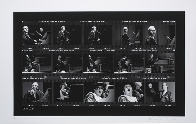Richard E. Aaron, 'Elton John Film Strip on Hahnemuehle Paper', White Cross