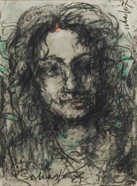 """Suhas Roy, 'Radha, Mixed Media on Paper by Modern Artist """"In Stock""""', 2007, Gallery Kolkata"""