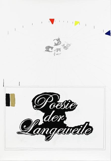 , 'Intro (Poesie der Langeweile),' 2010, Barbara Seiler