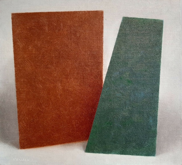 Enn Erisalu, 'Floating Forms 2 (Brown Green)', ca. 1986, Painting, Acrylic on canvas board, Gallery Jones