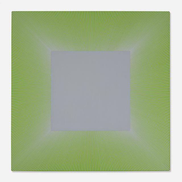 Richard Anuszkiewicz, 'Soft Grey Square with Lavender', 1979, Wright