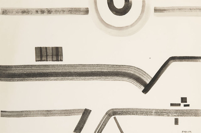 Florence Miller Pierce, 'Untitled', 1950, Drawing, Collage or other Work on Paper, Sumi-e ink on paper, Addison Rowe Gallery