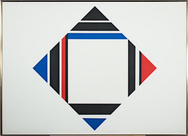 , 'Red/Blue/Black Diamond,' c. 1970, David Barnett Gallery
