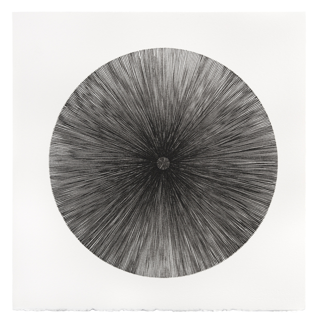 Mel Douglas, 'FIELD LINES V', 2021, Drawing, Collage or other Work on Paper, Glass drawing on paper, Traver Gallery