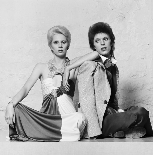 , 'Angie and David Bowie sitting down,' ca. 1974, Ransom Art