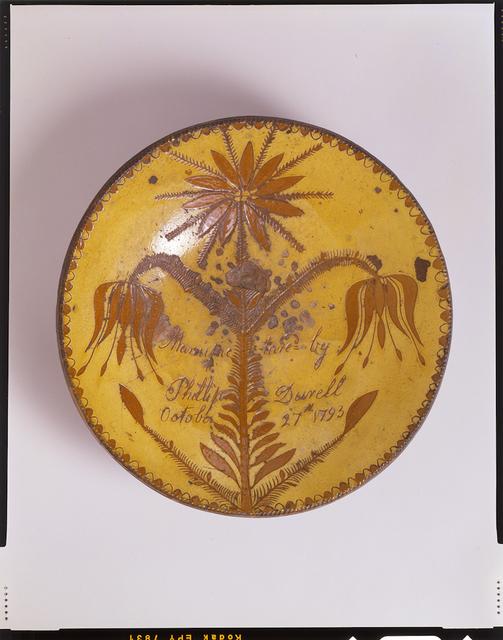 , 'Dish; Elizabethtown,' 1793, Newark Museum