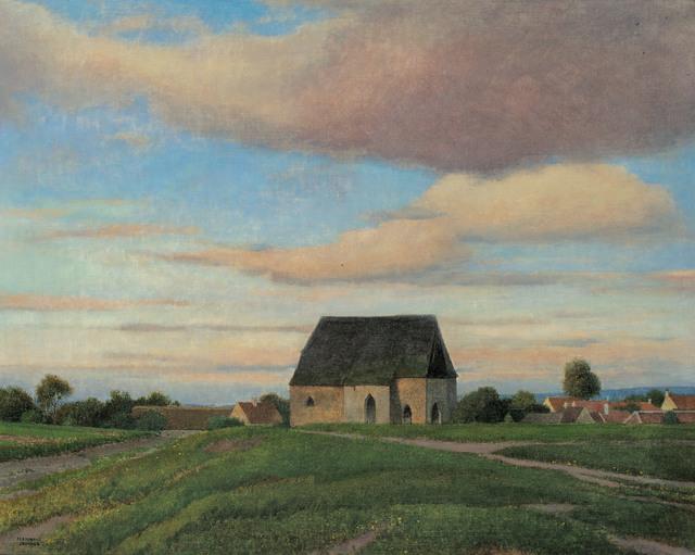 , 'village in the Waldviertel,' ca. 1915, Galerie Kovacek & Zetter