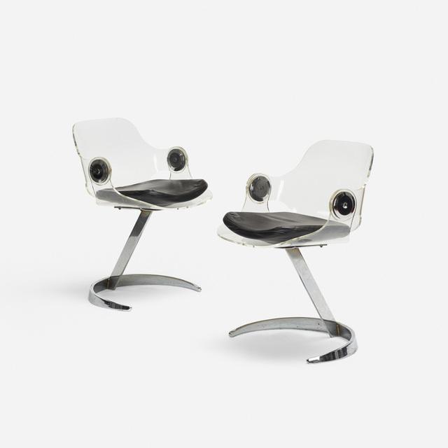 Boris Tabacoff, 'chairs, pair', 1971, Wright