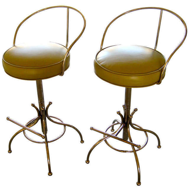 ", '""Ball Line"" Swivel Bar Stools,' ca. 1965, Christopher Anthony Ltd., Inc."