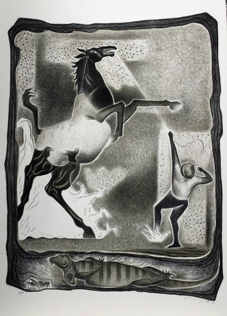 Shinzaburo Takeda, 'Caballo Bronco', 1992, La Mano Magica