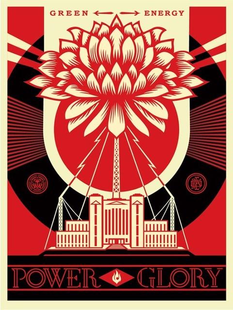 Shepard Fairey (OBEY), 'Red green power silk screen', 2014, Rudolf Budja Gallery