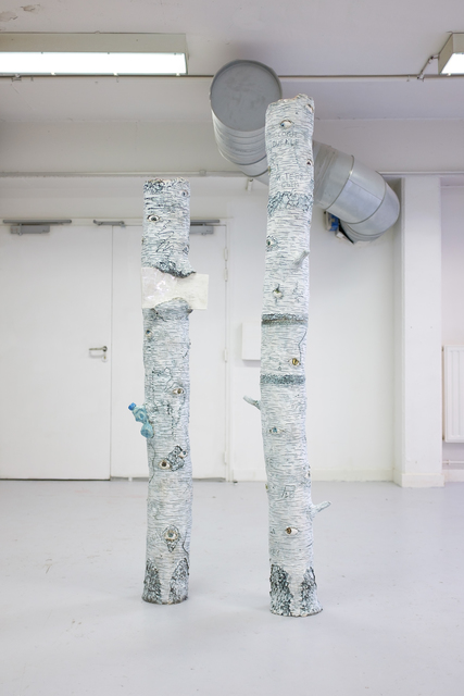 Apollinaria Broche, 'Bouleaux', 2017, Sculpture, Glazed ceramic, Antonine Catzéflis