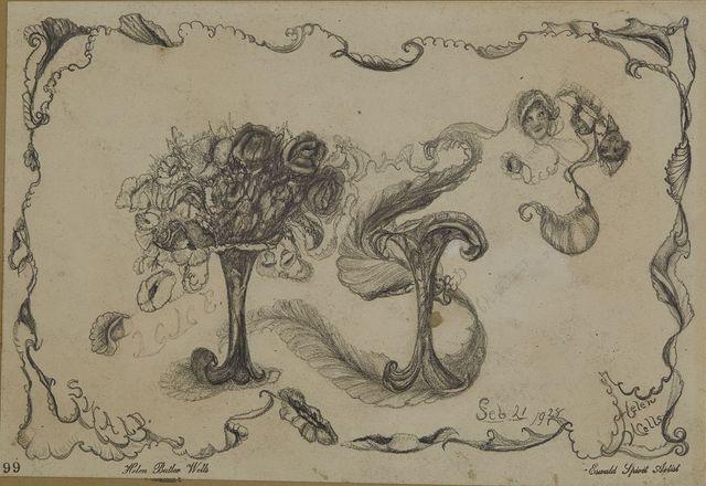 """, 'Spirit Drawing #99 - """"Lane"""",' 1928, Cavin Morris Gallery"""