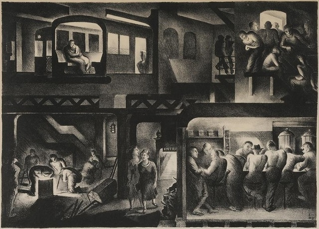 , 'The People Work-Night,' 1937, Dolan/Maxwell