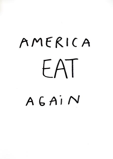 , 'T Drawings (Eat),' 2018, Jane Lombard Gallery