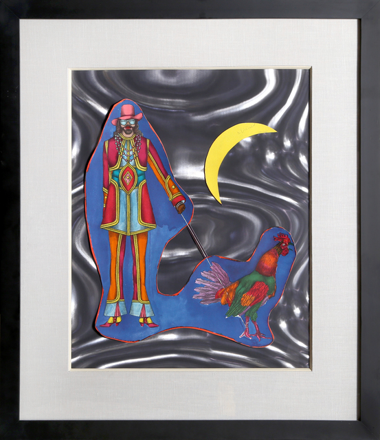 Richard Lindner, 'St. Marks', 1971, Print, Lithograph and Collage on Gray Rowlux, RoGallery