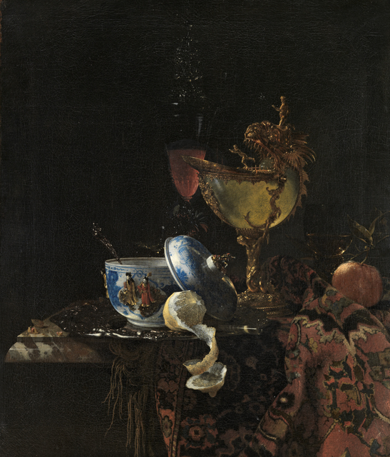 , 'Still Life with a Chinese bowl, a Nautilus Cup and Fruit,' 1662, Rijksmuseum