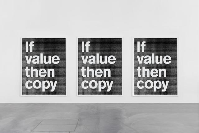 SUPERFLEX, 'If Value Then Copy', 2017, Galería OMR