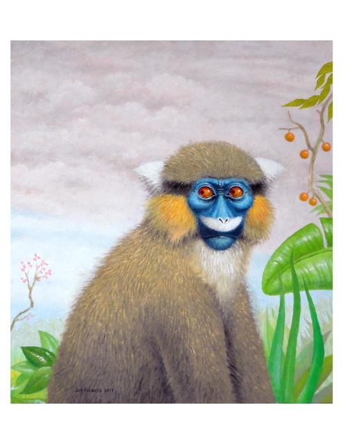 , 'Mustached Guenon,' 2017, La Luz de Jesus Gallery