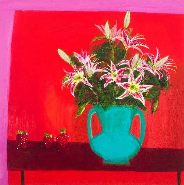 , 'Zoe's Lilies with Three Strawberries,' 2018, Beside the Wave