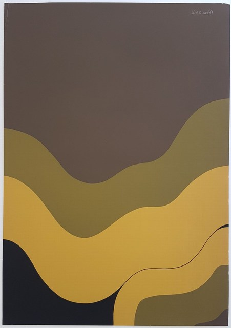 Hannes Grosse, 'Gestural Abstraction (Waves)', 1969, Cerbera Gallery