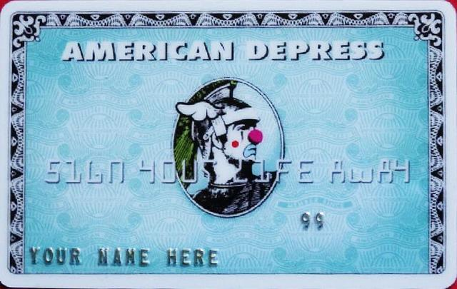 "Banksy, 'D-FACE, BANKSY ""AMERICAN DEPRESS' CREDIT CARD RARE ', 2008, Arts Limited"