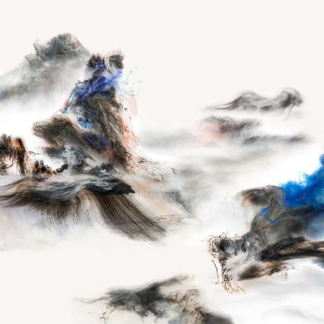 Lu Jun, 'Cloud Atlas 山色有無中', 2017, Mixed Media, Pigment ink on fine art paper, Galerie Koo
