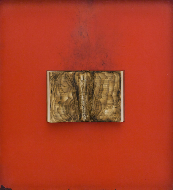 Bernard Aubertin, 'Livre brulé', 1974, Painting, Burnt book on board, ABC-ARTE