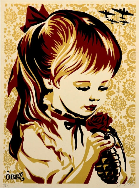 Shepard Fairey, 'War by Numbers (Gold)', 2007, Addicted Art Gallery