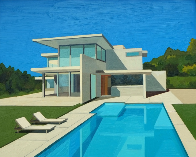 , 'Ultra Modern House,' 2016, Sue Greenwood Fine Art