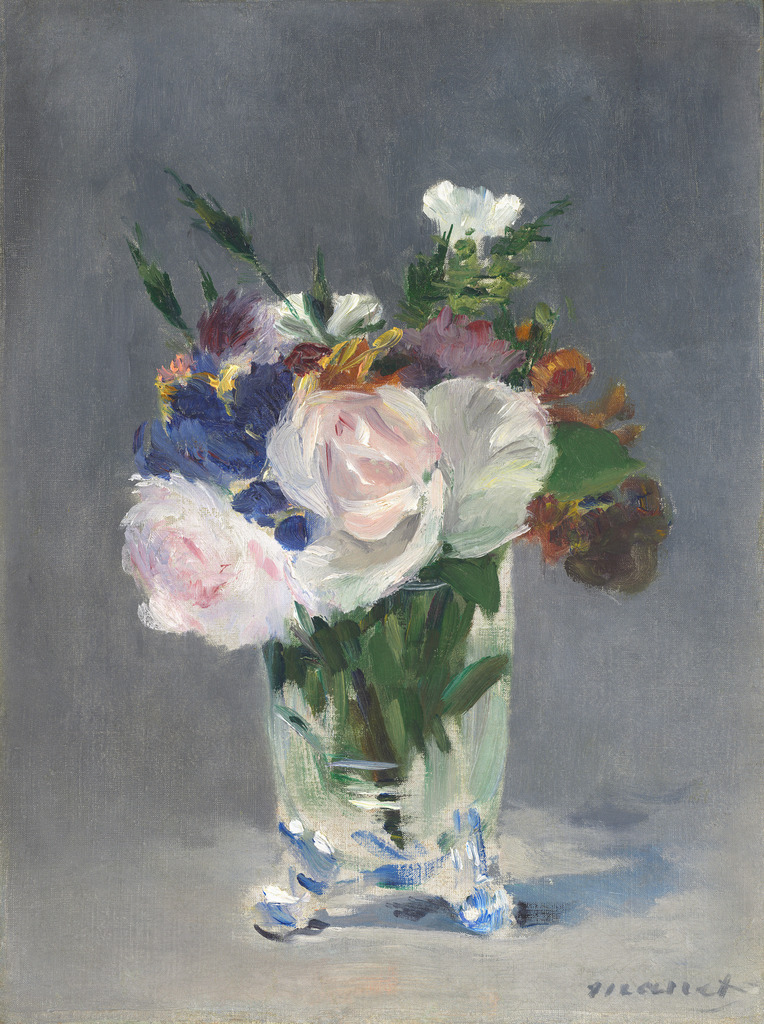 Douard Manet Flowers In A Crystal Vase Ca 1882 Artsy