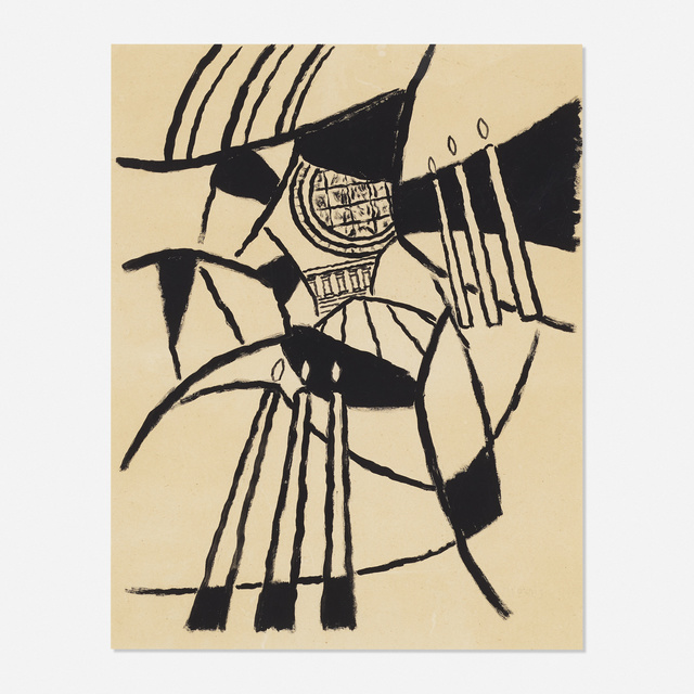 George L. K. Morris, 'Santo Spirito (study)', 1963, Drawing, Collage or other Work on Paper, Brush and ink on paper, Rago/Wright