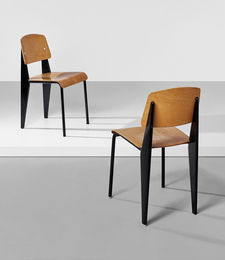 "Two ""Semi-metal"" chairs, model no. 305"