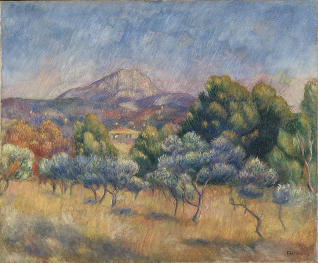 Pierre-Auguste Renoir, 'Mont Sainte-Victoire', ca. 1888-89, Yale University Art Gallery