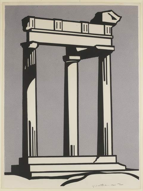 Roy Lichtenstein, 'Temple', 1965, Print, Offset lithograph on smooth wove paper, Andipa
