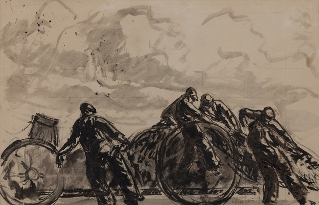 Gifford Beal, 'Unknown (Men Hauling)', 1923, Montclair Art Museum