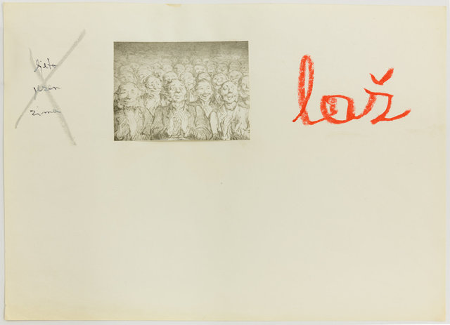 , 'Ljeto, jesen, zima, laž (Summer, Fall, Winter, Lie),' 1973, Galerie Martin Janda