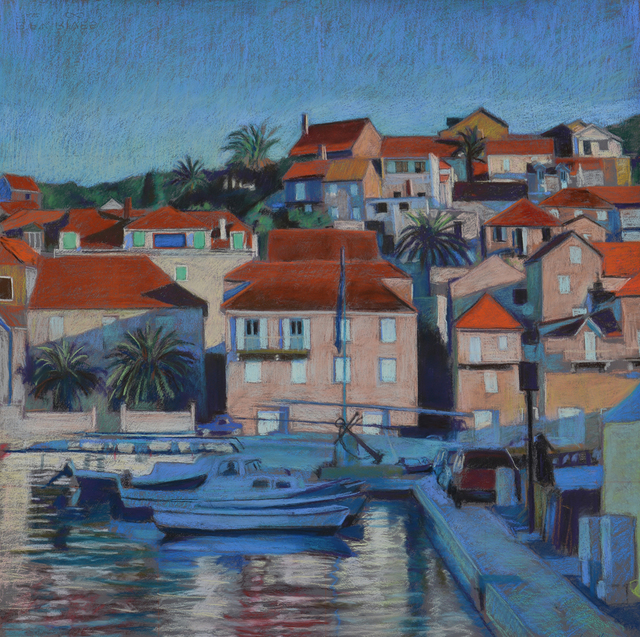 ", '""Harbor"" Hvar, Croatia,' , Peninsula Gallery"
