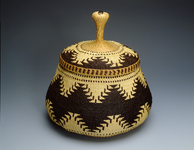 , 'Twined Trinket Basket,' ca. 1910, Montclair Art Museum