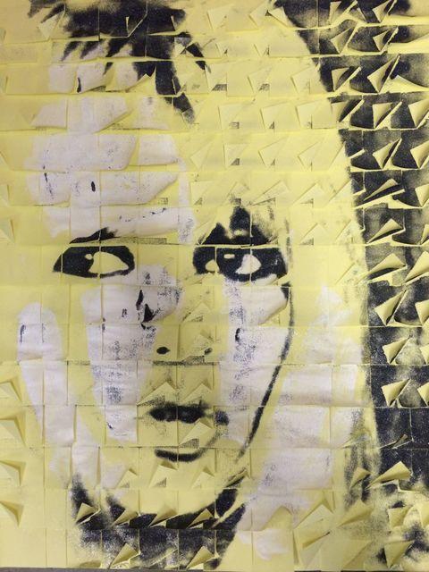 Ardan Özmenoğlu, 'Brigitte Bardot', 2017, Print, Mixed media on post-it notes, Anna Laudel