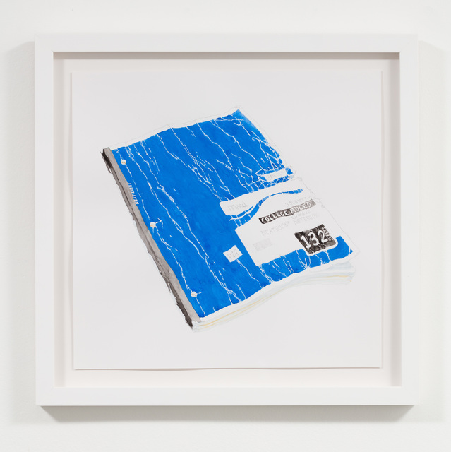Luke Butler, 'Blue Notebook', 2014, Drawing, Collage or other Work on Paper, Graphite and gouache on Bristol paper, Jessica Silverman