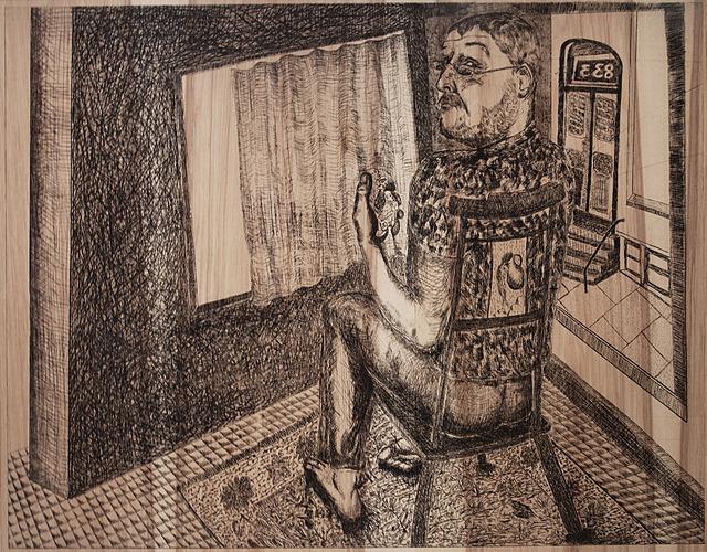 Daniel Heyman, 'Spring: Artist Contemplates (Inheritance)', 2012, Cade Tompkins Projects