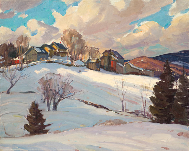 Aldro Thompson Hibbard, 'Winter Farm and Clouds, Vermont', 19th -20th Century, Vose Galleries