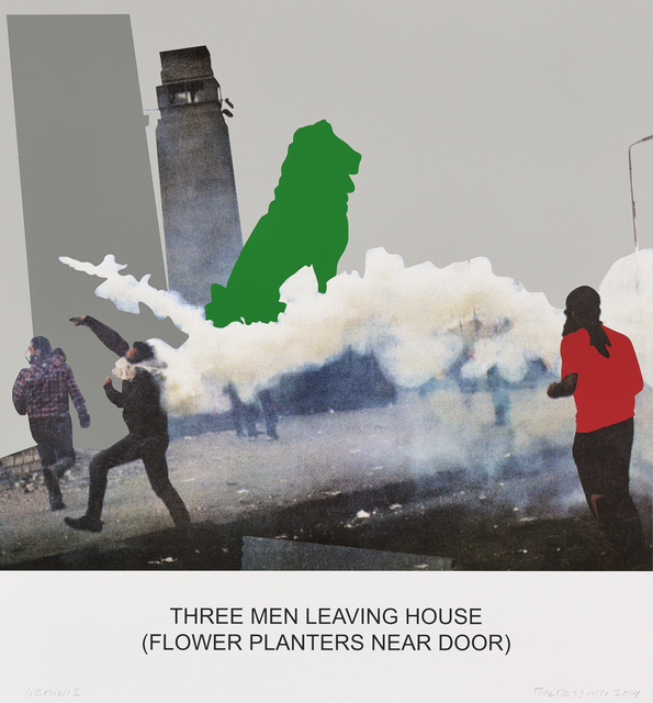 , 'The News: Three Men Leaving House...,' 2014, Gemini G.E.L. at Joni Moisant Weyl